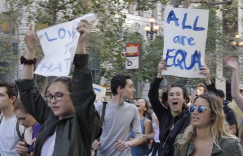 Students at the Urban School of San Francisco walk out