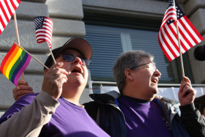 Same-sex marriage hearing sparks demonstration in San Francisco