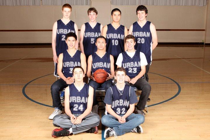 Junior varsity boy's basketball team, photo curtesy of Urban athletic department