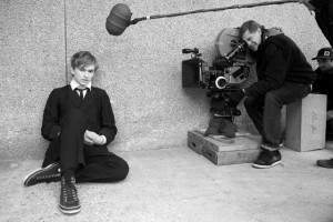 Henry Hopper as Enoch Brae on the set of Van Sant's
