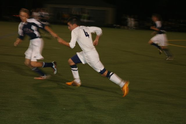 Harry Krinsky ('13) sprints up the field