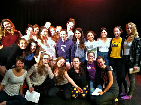 Cast of the Swear Words performance.