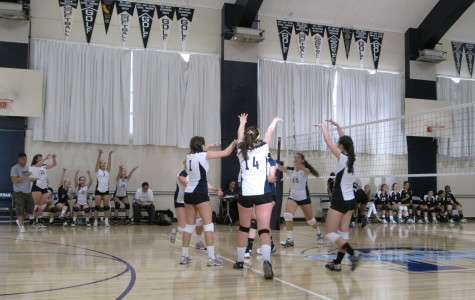 Girls varsity volleyball falls to Drew Dragons in four sets