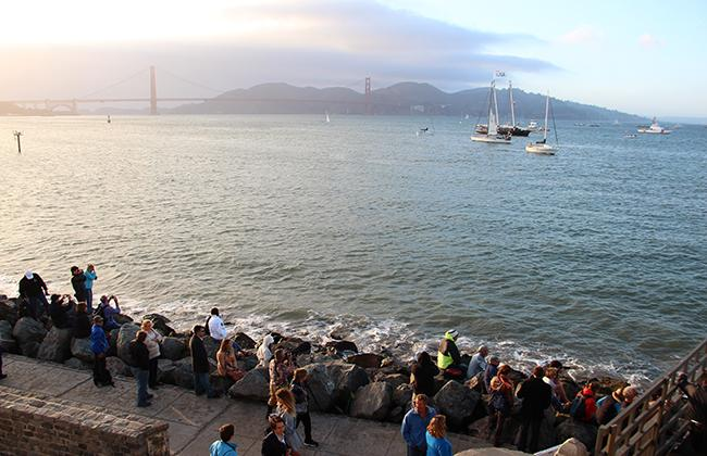 Long-awaited America's Cup sails into the Golden Gate, enthralls San Francisco