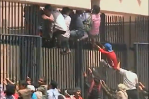 Protesters breach the United States Embassy in Yemen