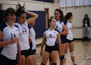 Girls varsity volleyball focuses on positive energy in face of 2-9 record