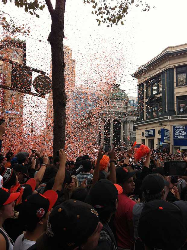 Legend staffers capture the Giants' 2012 World Series victory parade through photography