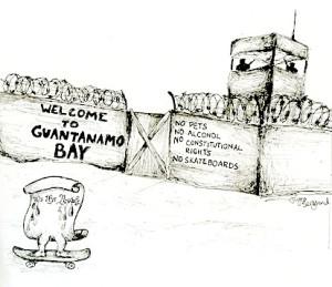 An editorial cartoon