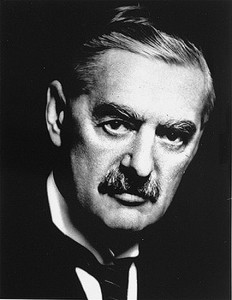 This photo of Prime Minister Arthur Neville Chamberlain was taken between 1937 and 1940 in London by an unknown photographer. Photo from U.S. Holocaust Memorial Museum/public domain.