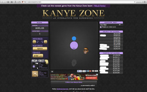Screenshot of the Kanye Zone website. Usernames blocked out to protect privacy.
