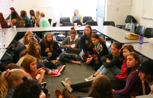Students at a SWEAR meeting