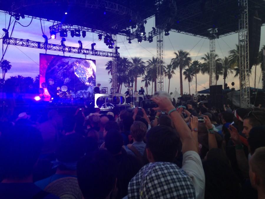 Broken Bells performances at one of Coachellas five stages. Photo by Phoebe Yusim.