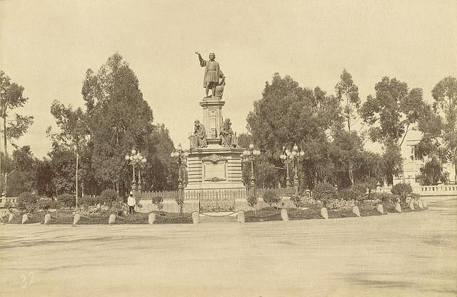 An+1876+monument+dedicated++to+Christopher+Columbus+in+Mexico+City.+Published+by+Claudio+Pellandini+