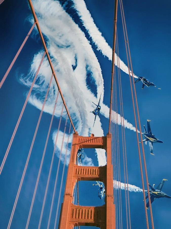 Blue+Angels+fly+over+the+Golden+Gate+Bridge.