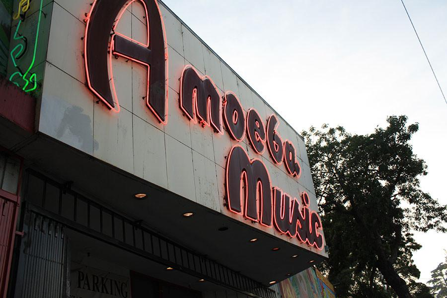 Founded in 1997, the independent record store Amoeba Music is located on Haight street.