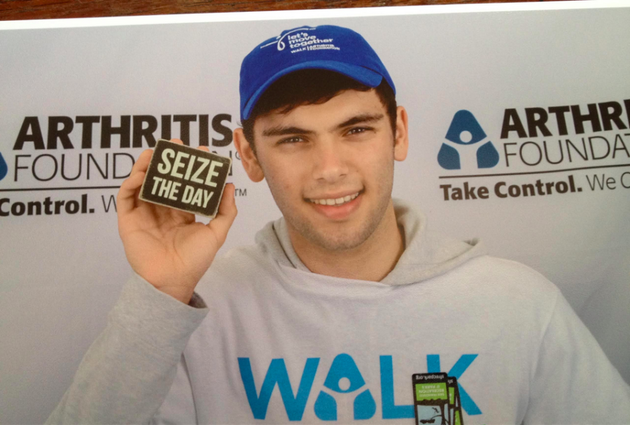 Aaron Emanuel ('16) was recently named the Youth Honoree of the Arthritis Foundation's San Francisco Walk to Cure Arthritis.