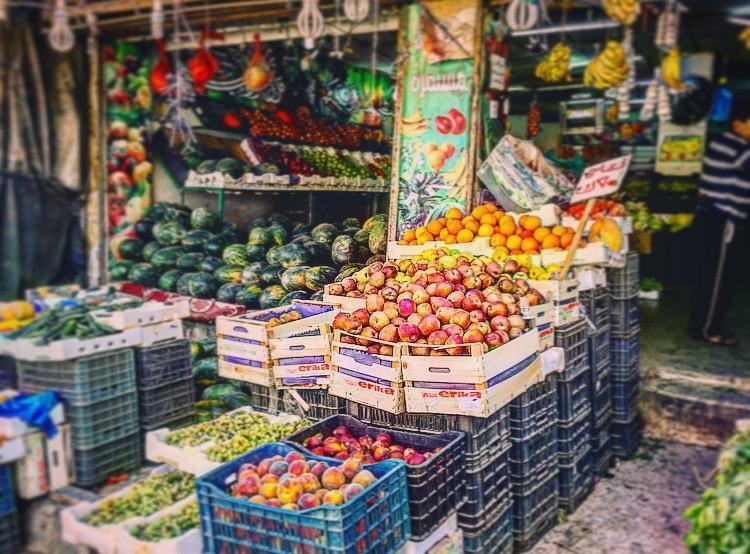 Fruit Stand in As-Salt فواكة السالط