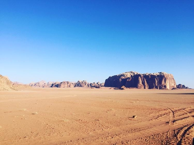 Rock Formations at the Valley of the Moon (Wadi Rum)