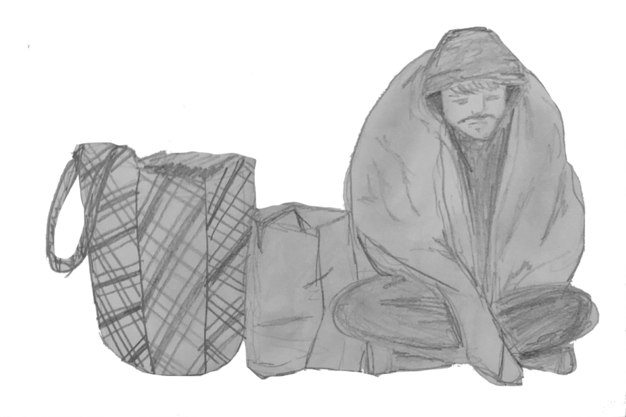 Illustration of homelessness in San Francisco, by Lena Bianchi, Design Editor.