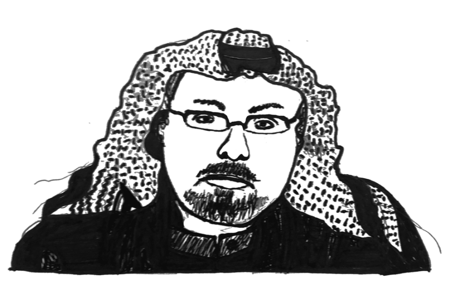 Illustration of deceased Saudi-Arabian journalist Jamal Kashoggi, by Phoebe Grandi, Visuals Editor
