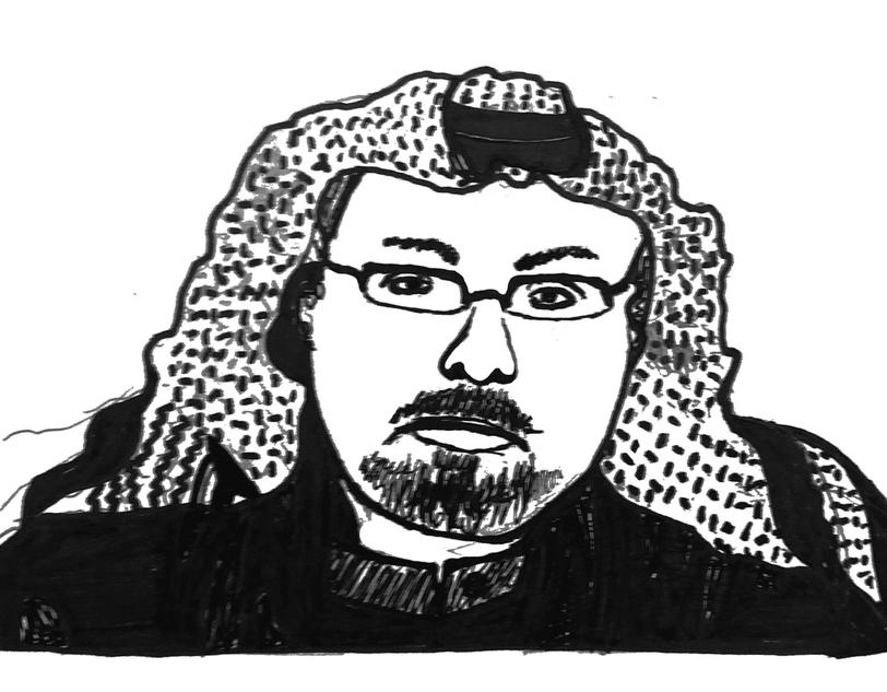 Illustration of deceased Saudi-Arabian journalist Jamal Kashoggi, by Phoebe Grandi, Visuals Editor