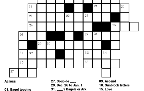 Answers to Crossword: A Plague of Holidays