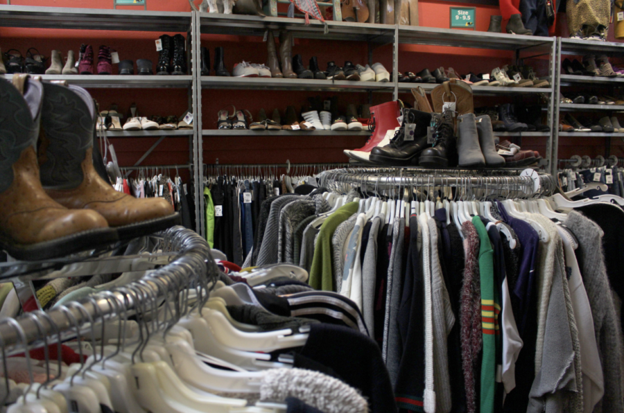Interior of a thrift store on Haight street. By Ellie Lerner, staff writer.