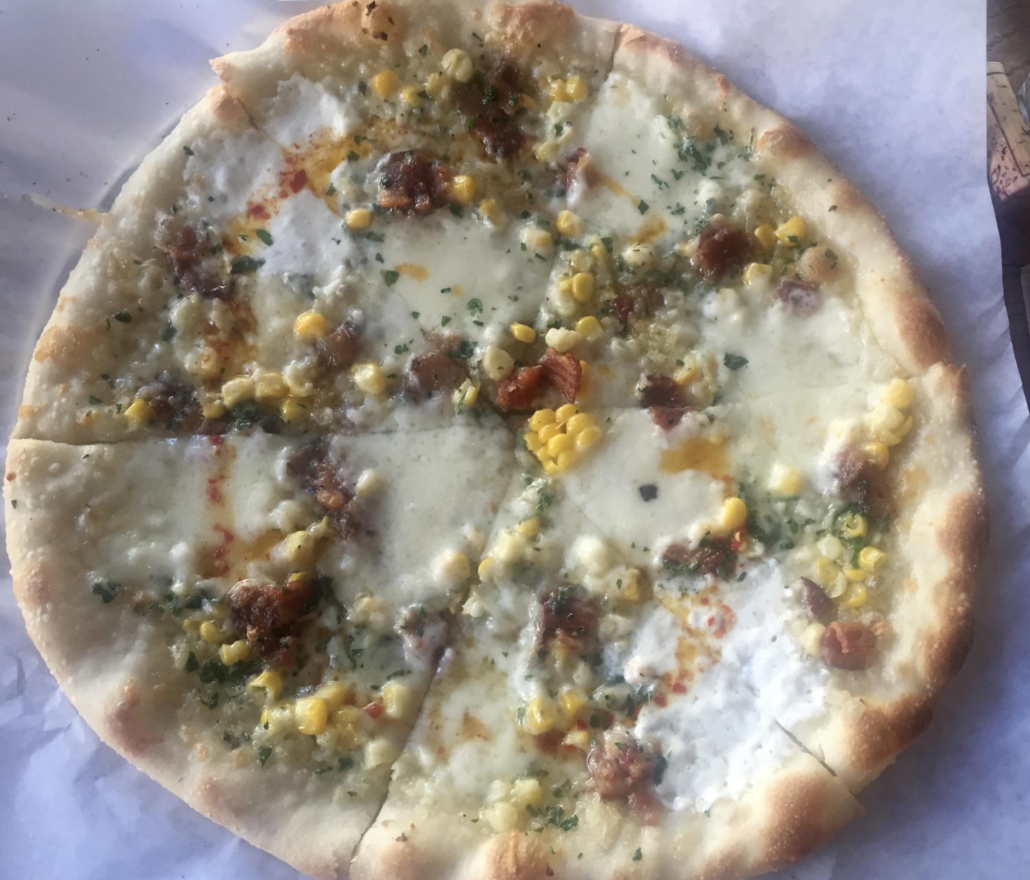 A bi-weekly special pizza at Pizzetta 211
