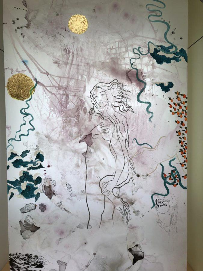 Hannah Shrank '19 Winter Art Show work. By Kian Nassre, Web Editor.