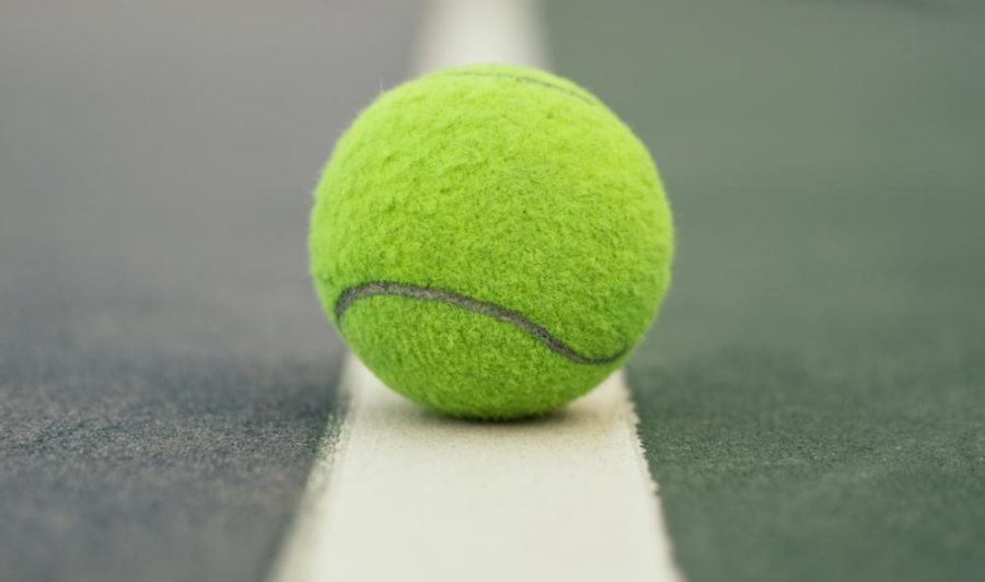 Royalty+free+photo+of+a+tennis+ball+on+a+tennis+court%2C+courtesy+of+Pexals.