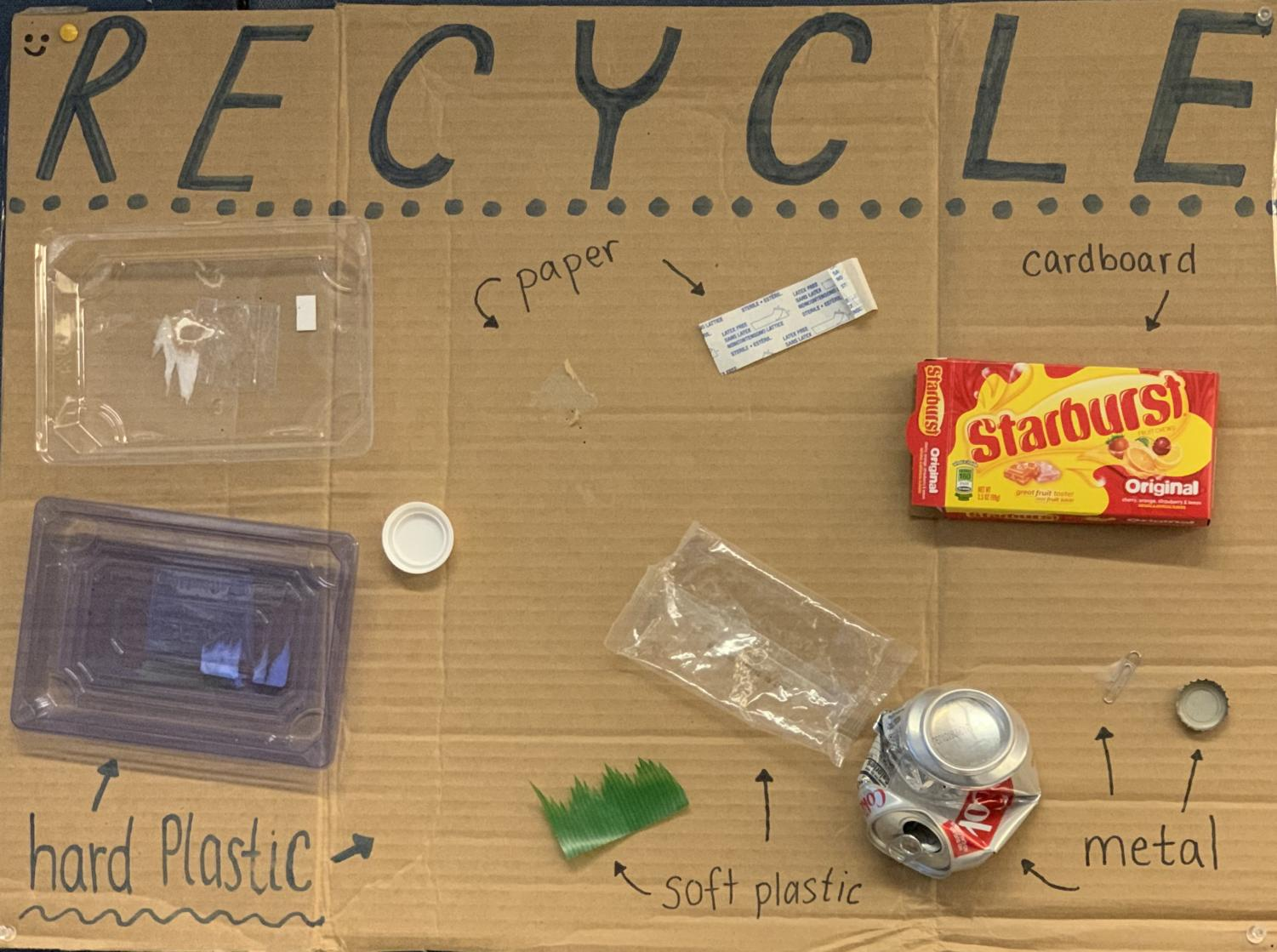 Green Team's poster guide to recycling. Photo Credit: Ellie Lerner