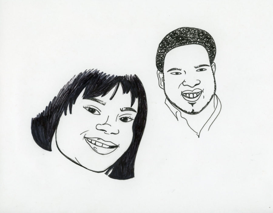 Illustration of Atatiana Jefferson and Botham Jean. Illustration credit: Izzie Ballon.