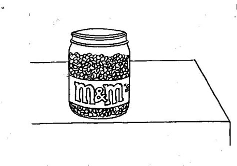 Image of a jar of M&Ms. Illustration credit: Loki Olin.