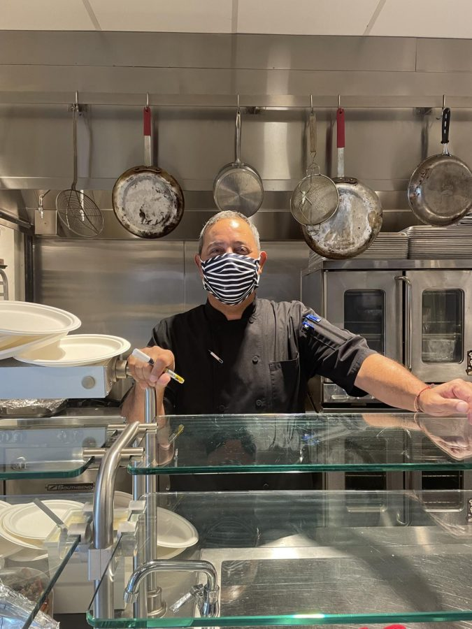 Chef David in the Salkind Center kitchen on Wednesday, September 22. Photo credit: Tulin Chang-Maltepe.